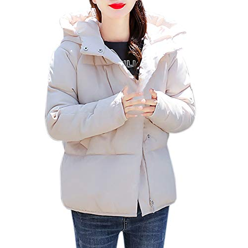 Bazhahei giacca donna,moda inverno cappotto donne da casual cappotto outwear cappotto delle donne,donna inverno cappotto collare breve cotone slim-imbottito ispessito cappotto con cappuccio