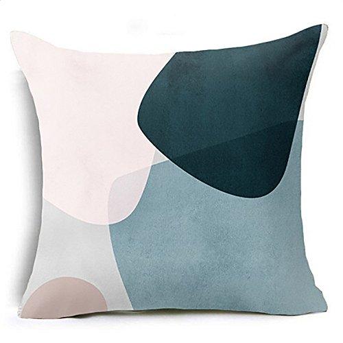 Kword parametrico cuscino cassa vita cuscino copertina divano casa decor federa quadrato 45 * 45cm (cuscino interno non è incluso) (f)