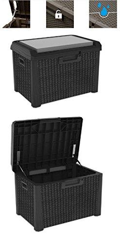 Toomax Kissenbox anthrazit 125 Liter Inhalt - mit Sitzfläche 160 kg Tragkraft - absolut wasserdicht - abschließbar