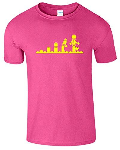 Evolution Legolution Herren Lustige Kurzarm Fancy T-Shirt Antique Heliconia