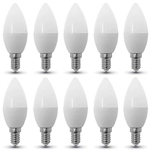 10 - pezzi - 4216 - V - TAC - Lampadina LED Candela - Casquillo E14 - Potenza 4W (sostituisce 30 W) - Luce Bianca Calda (2700K) - 320 lm - Angolazione fascio luce 200°