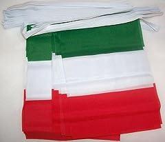 Idea Regalo - AZ FLAG Ghirlanda 6 Metri 20 Bandiere Italia 21x15cm - Bandiera Italiana 15 x 21 cm - Festone BANDIERINE