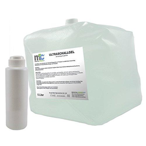 Ultraschallgel, Kontaktgel, 5 Liter Cubitainer mit Leerflasche, Sonographie Leitgel, Ultraschall-Gel -