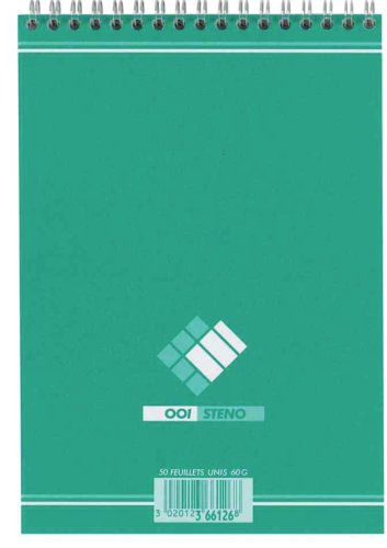 001BLOC Stenoblock, blanko, (B)148 x (H)210 mm VE = 1