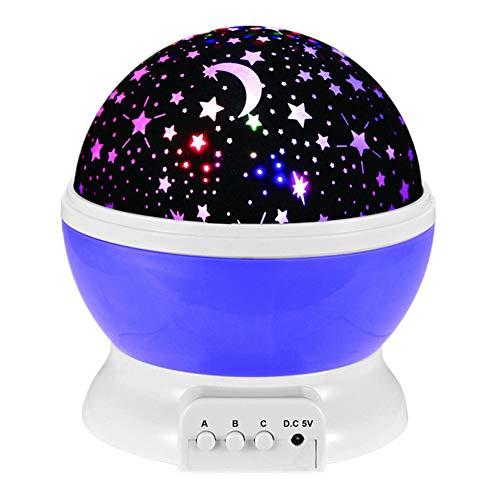 MAGICE Lampes étoilées projecteur tournant Romantique Coloré veilleuse avec Musique, Créatif Lampe de Chevet pour Chambre d'enfant Décor de Chambre Anniversaire de Noel La Saint Valentin,Purple