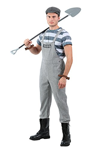 Men's Chain Gang Prisoner Plus Size Fancy dress costume (Kostüme Gang Chain)