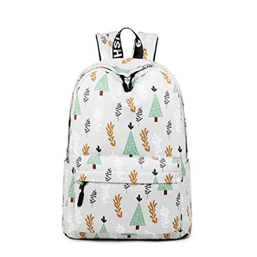 Mode Frauen Rucksack Obst Printing Schule Rucksack Für Teenager Reise Bookbag Laptop Zurück Tasche Light Gray - Spade Kate Notebook-tasche