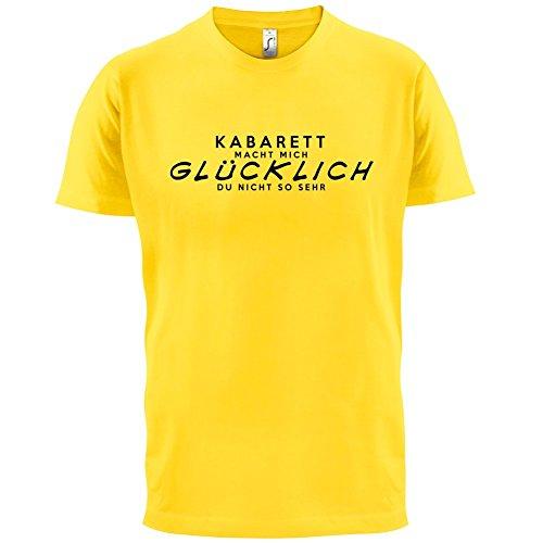 Kabarett macht mich glücklich - Herren T-Shirt - 13 Farben Gelb