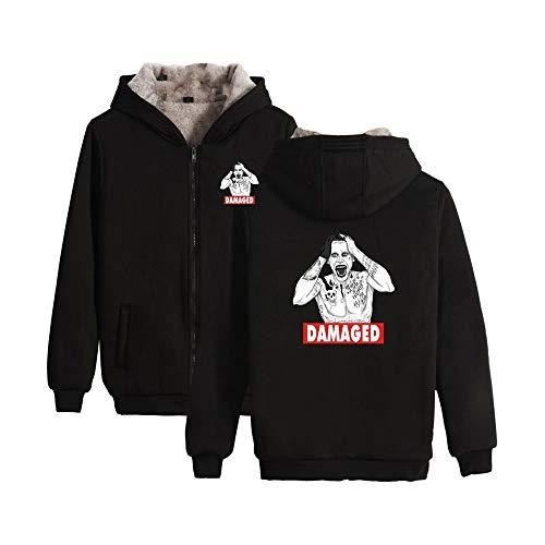 Suicide Squad Pullover College Wind Sweatshirt Hoodie Jacke Kapuzen Baumwolle Langarm Mantel Fleece Kapuzenoberteil Lange Ärmel (Color : Black01, Size : M) Squad Hoodie Sweatshirts