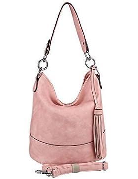 ital-design Damen Stern Tasche Shopper Henkeltasche Handtasche Schultertasche Umhängetasche