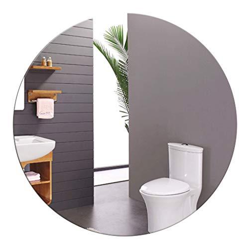 YF-Mirror Espejo Redondo Grande Pulido Biselado Espejo de Pared sin Marco para baño, tocador, Dormitorio...