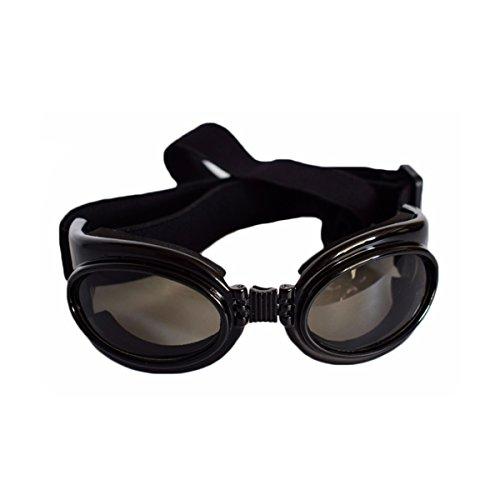 PETCUTE Haustier UV Goggle Sonnenbrille Wasserdicht Sonnenbrille Für den Mittleren Großen Hund Schwarz