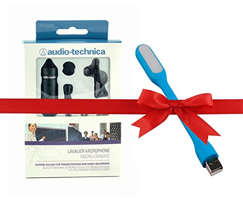 Audio Technica ATR3350 Omnidirectional Condenser Lavalier Microphone With USB LED  available at amazon for Rs.2999