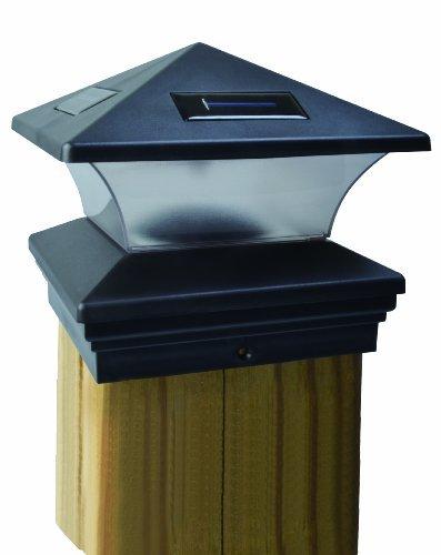 Moonrays 91268 Solar-Powered Post Cap LED Light for 6 by 6 Posts, Black by Moonrays - Solar Powered Post Caps