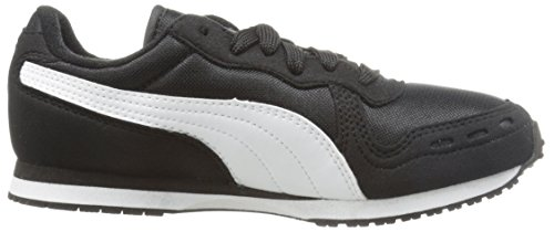 Puma Youths Cubana Racer Mesh Synthetic Trainers Black White