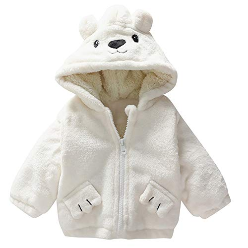 Kinder Mäntel Sunnydrain Kinderjacken Kunstpelz Hoodie Fleece Reine Farbe Reißverschluss Winter Warm Herbst Kapuzen Outerwear Baumwolle Langarm