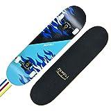 Weiyue Skateboard- Professioneller Roller Erwachsener Skateboard Longboard Doppel Rocker Brush Street Skateboard Anfänger Skateboard (Farbe : B, größe : 79X20CM)