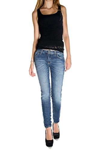 PLEASE - P95 jeans da donna stropicciato p95hbq2e02 xxs denim