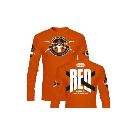 SD toys - T-Shirt - Star Wars Episode 7- Homme Red Squad Orange Manche Longue Taille XL - 8436546899433