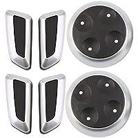 Sitz verstellbare Schalter Knopf 6pcs schwarz Matt hohe Qualität Chrom für AUDI Cars - schwarz preisvergleich bei billige-tabletten.eu