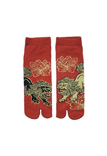 Männer Tabi Socken Zehensocken Chinesische Löwen