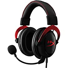 Hyperx KHX-HSCP-RD Cloud II Gaming Headset, USB, 7.1 Virtual Surround Sound, Audio Control Box, Rood/Zwart