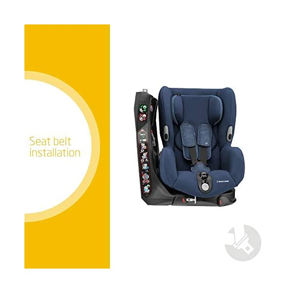 Maxi-Cosi Axiss Toddler Car Seat Group 1, Swivel Car Seat, 9 Months-4 Years, Nomad Blue, 9-18 kg Maxi-Cosi Toddler car seat, suitable from 9 months to 4 years (9 - 18 kg) Swivels 90 degree degrees allows for front-on access to get your toddler in and out of the car more easily Maxi-Cosi Axiss car seat has 8 comfortable recline positions 2