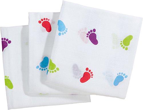 Baby Butt Mulltücher 3er-Pack weiss