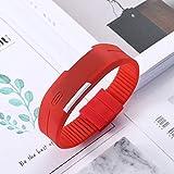 Smartwatch,orologio da polso,Orologio LED digitale in silicone Orologio da polso sportivo sportivo da donna, da uomo, luminoso, elettronico da polso rosso