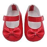 Vovotrade Glitter Puppe Schuhe Bogen Kleid Schuhe für 18 Zoll unsere Generation American Girl Doll (Rot)