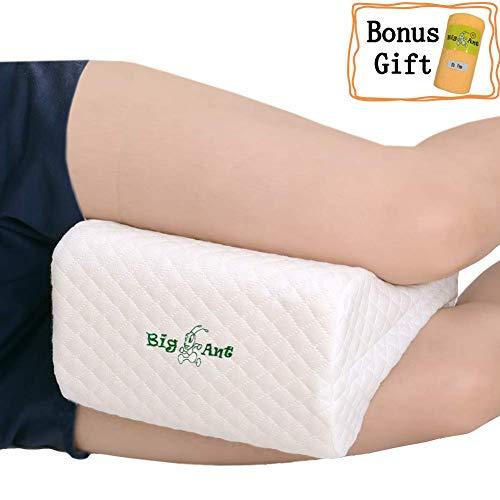 Big Ant Cuscino Ginocchio Memory Foam per Ortopedico e Dolore Schiena Lavabile e Rimovibile copertura con asciugamano
