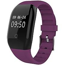 miraer Smart pulsera F608HR Fitness Tracker pulsera Bluetooth SmartBand para deporte para Xiaomi ios android smart banda PK mi banda Huawei