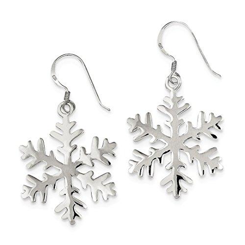 IceCarats Designer Schmuck Sterling Silber-Schneeflocke Ohrringe