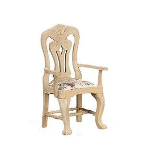 MELODY Jane Casa De Muñecas tallada Silla Sin Terminar madera en Bruto Miniatura Comedor Muebles B