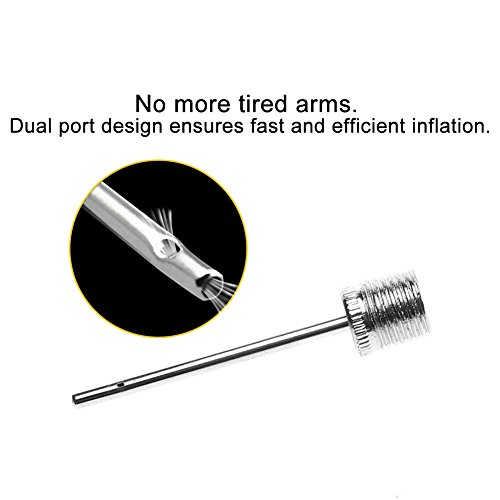 Golvery Ball Pump Needle Pack for Sports Balls  Stainless Steel Inflator Needle Set adapter  Dual-Port Design  Perfect for any Football  Basketball  Soccer Ball  Volleyball or Rugby Balls  20 of Set