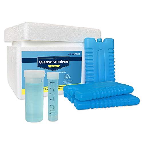 Aquakaiser Wassertest - Komplett-Test auf die gängigsten Schwermetalle, Bakterien, Mineralstoffe, Wasserhärte UVM. - inkl. Test-Set und Laboranalyse -