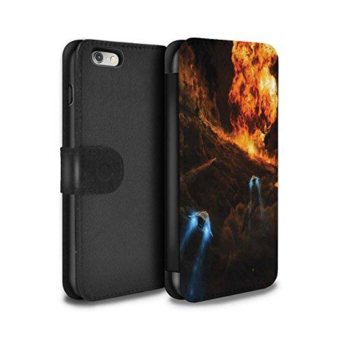 Offiziell Chris Cold PU-Leder Hülle/Case/Tasche/Cover für Apple iPhone 6S / Schmelzen Sonne Muster / Fremden Welt Kosmos Kollektion Chaos Entfesselt