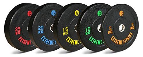 Extreme Fitness Hi-Temp Gewichtsscheiben, Gummi, für 2-Zoll-Hantelstangen (ca. 5,1 cm), HTBUMPER1, 2 x 10kg