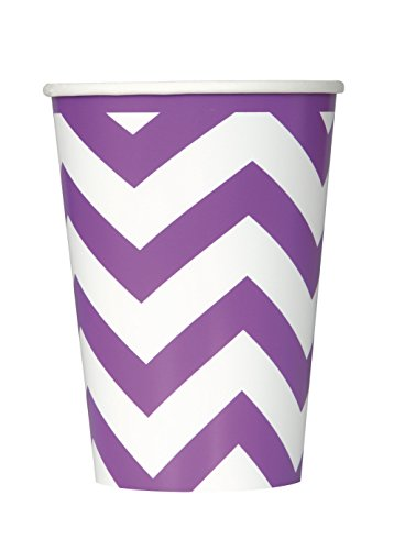 12oz-purple-chevron-paper-cups-pack-of-6