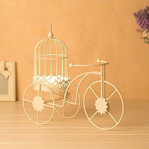 Creative bicicleta adornos estilo candelabro, una romántica cena a la luz de las velas decoradas candleholder