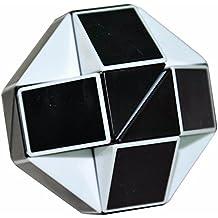 Serpiente Mágica Gobernante Torcedura Puzzle Cubo, LSMY Toy Negro/Blanco