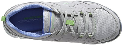 Skechers Synergy Front Row, Baskets Basses Femme Gris - Gris (GYLB)