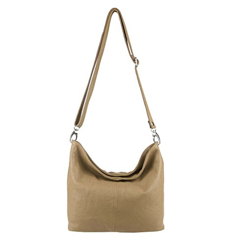 OBC Only-Beautiful-Couture, Borsa a spalla donna argento argento 37x24x13 cm (BxHxT) tortora