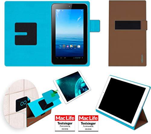 Premium 7 Tasche Cover Case Bumper | in Braun | Testsieger ()