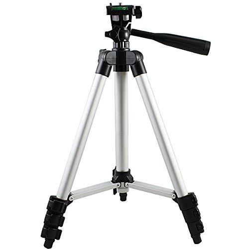 PMS® Stativ mit 3-Wege-Kopf Universal Alu Kamera Stativ Kamerastativ Fotostativ Camcoreder Mini Foto-Apparat
