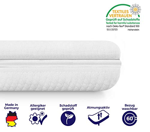 Mister Sandman weicher Matratzentopper aus Visco für mehr Schlafkomfort- atmungsaktive und extra-weiche Matratzenauflage mit Reißverschluss, 120 x 200 cm, Dicke 5 cm
