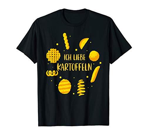 Ich Liebe Kartoffeln T-Shirt Kartoffel Variationen T-Shirt