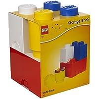 LEGO Aufbewahrungsstein Multi-Pack L, Stapelbare Aufbewahrungsboxen, 4er-Set