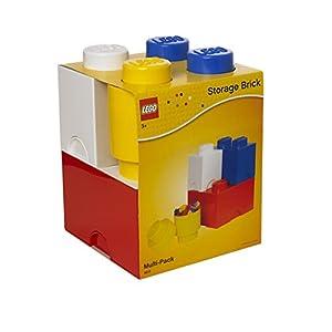 Room Copenhagen Mattoncino Lego Multipack L, contenitori impilabili, Set di 4 Pezzi, Multicolore, One Size LEGO