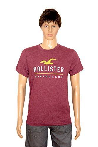 hollister-camiseta-camiseta-para-mujer-borgona-m